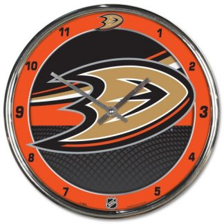 Anaheim Ducks Chrome Team Clock