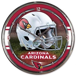 Arizona Cardinals Chrome Team Clock