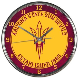 Arizona State University Chrome Team Clock