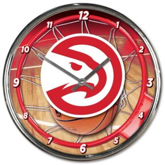 Atlanta Hawks Chrome Team Clock