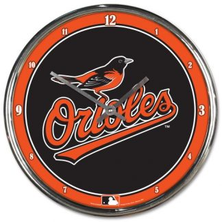 Baltimore Orioles Chrome Team Clock