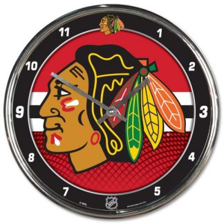 Chicago Blackhawks Chrome Team Clock