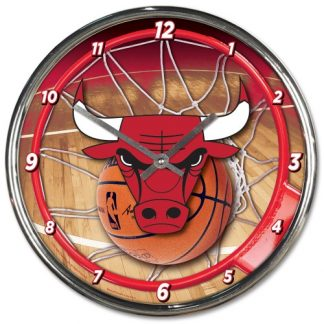 Chicago Bulls Chrome Team Clock