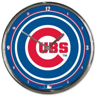 Chicago Cubs Chrome Team Clock