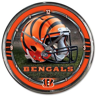 Cincinnatti Bengals Chrome Team Clock