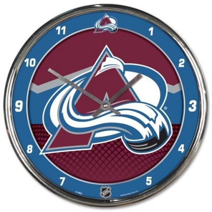 Colorado Avalanche Chrome Team Clock