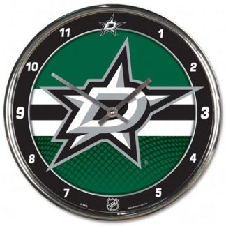 Dallas Stars Chrome Team Clock