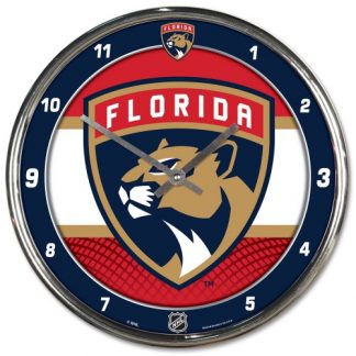 Florida Panthers Chrome Team Clock