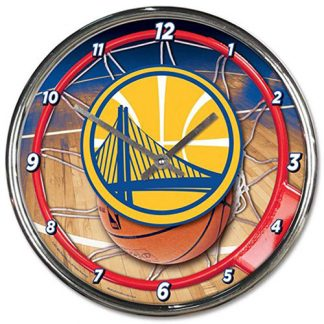 Golden State Warriors Chrome Team Clock