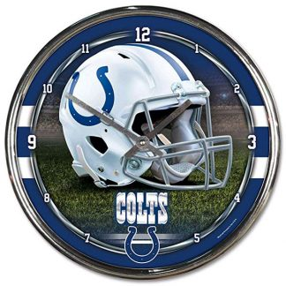 Indianapolis Colts Chrome Team Clock