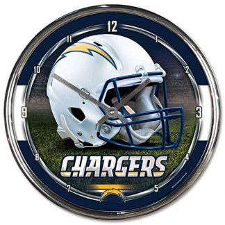 Los Angeles Chargers Chrome Team Clock