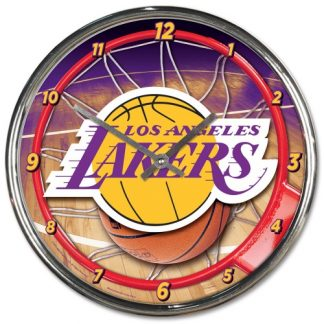 Los Angeles Lakers Chrome Team Clock
