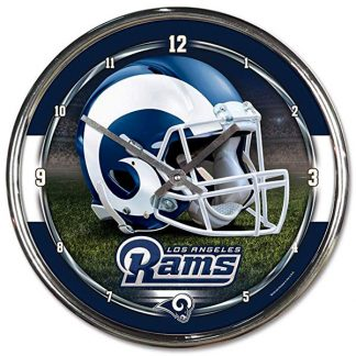 Los Angeles Rams Chrome Team Clock