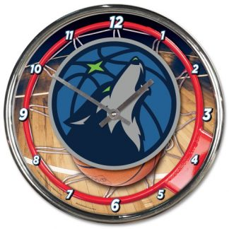 Minnesota Timberwolves Chrome Team Clock