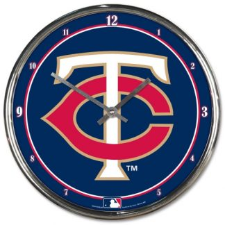 Minnesota Twins Chrome Team Clock