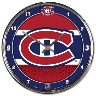 Montreal Canadiens Chrome Team Clock