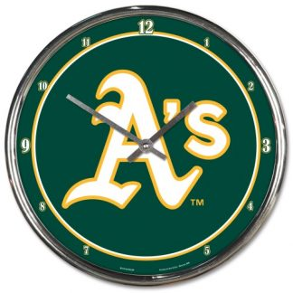 Oakland Athletics Chrome Team Clock