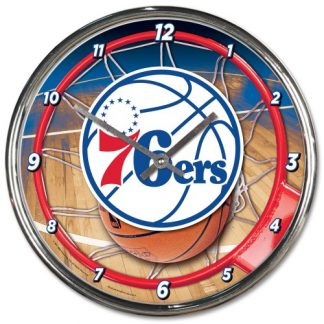 Philadelphia 76ers Chrome Team Clock