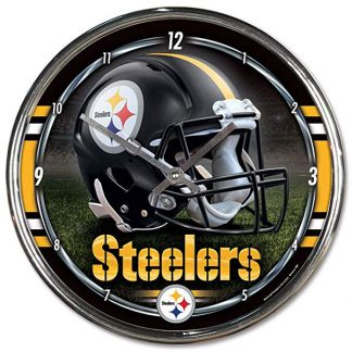 Pittsburgh Steelers Chrome Team Clock