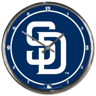San Diego Padres Chrome Team Clock
