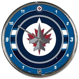 Winnipeg Jets Chrome Team Clock