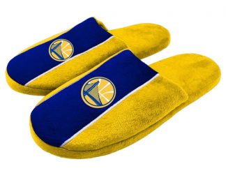 Golden State Warriors Stripe Slippers