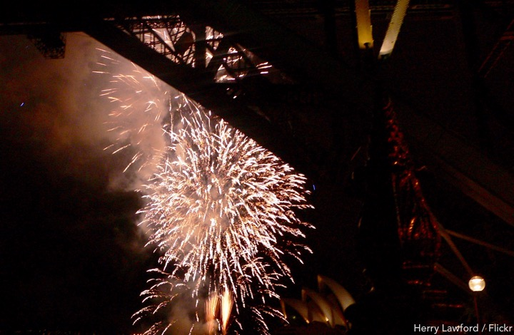 Best Free Spots for Sydney New Years Eve Fireworks        SydneyCloseup com Sydney New Years Eve fireworks from under the bridge