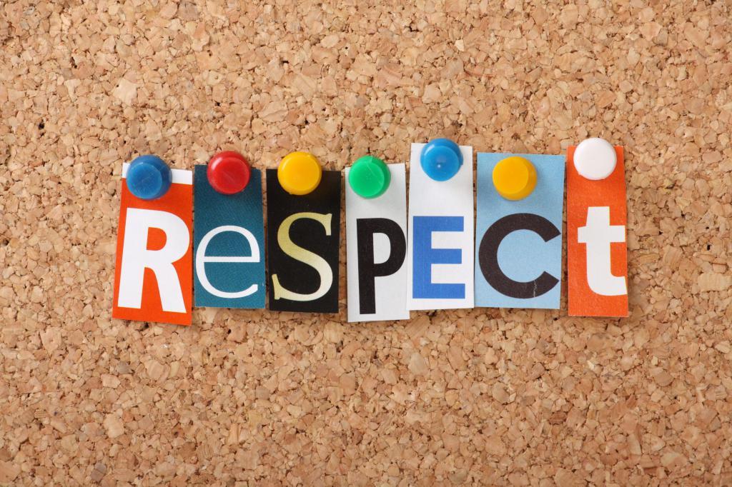Respect is een positief