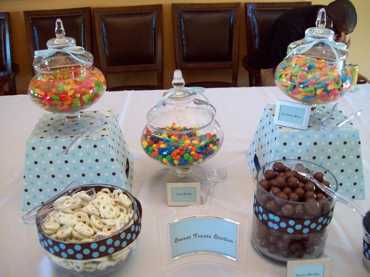 Baby Boy Shower Candy Buffet Ideas With Winnie The Pooh