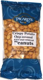 Picard S Crispy Potato Chip Covered Salt And Vinegar Peanuts