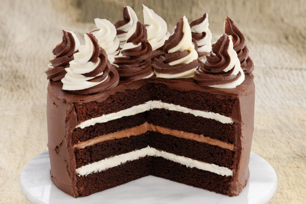 Melt And Mix Triple Choc Layer Cake Recipe Taste Com Au