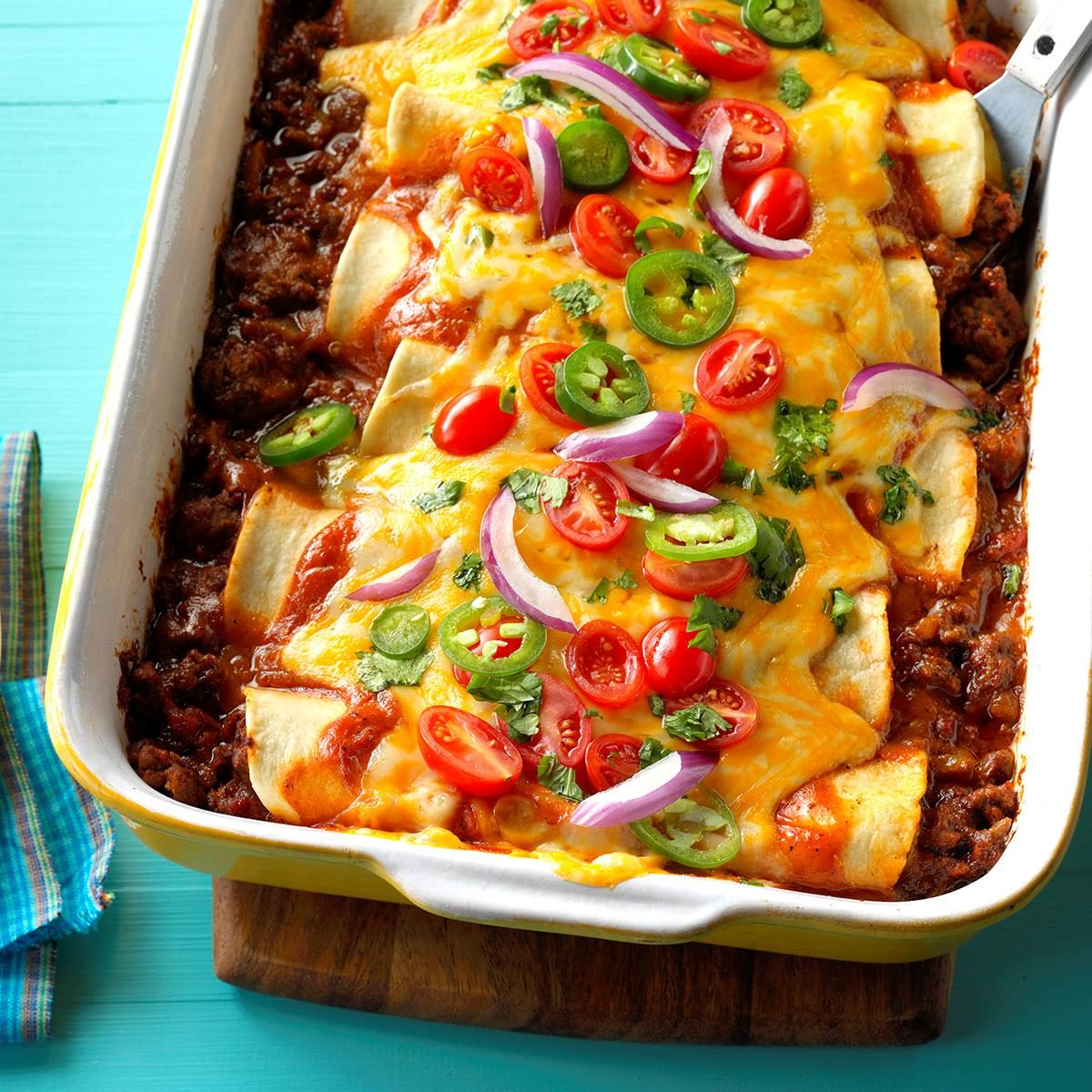 Garlic Beef Enchiladas Recipe Taste Of Home