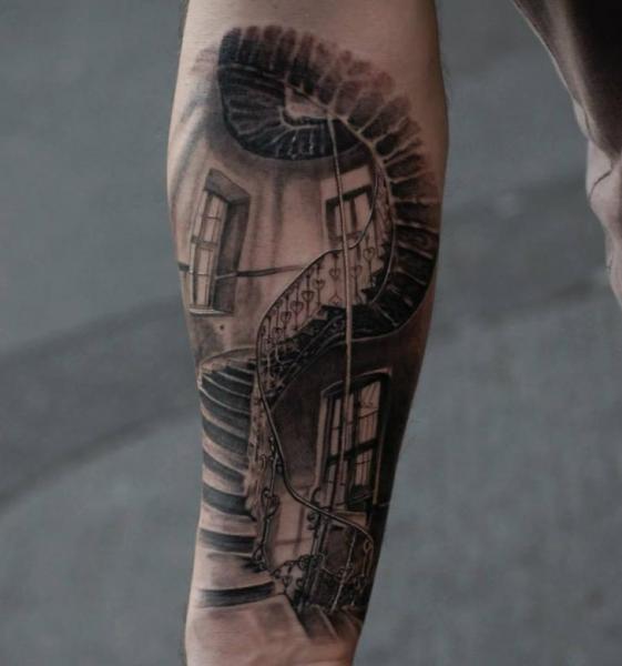 Heaven Gates Chest Tattoo