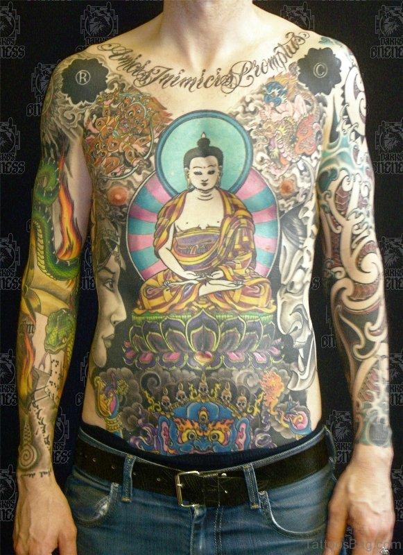 54 Dazzling Buddha Tattoo On Chest