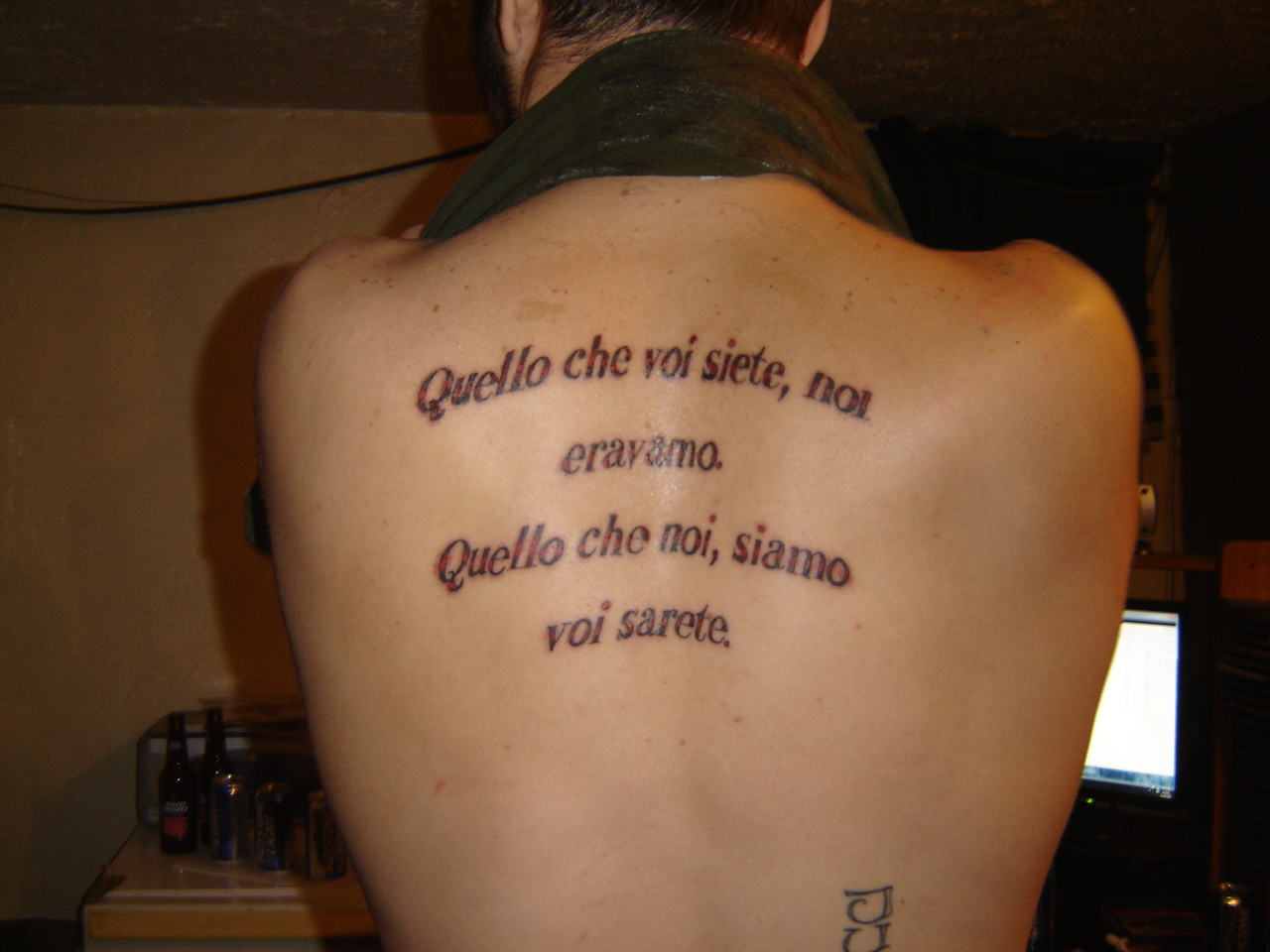 Life Is Beautiful In Italian Tattoo
