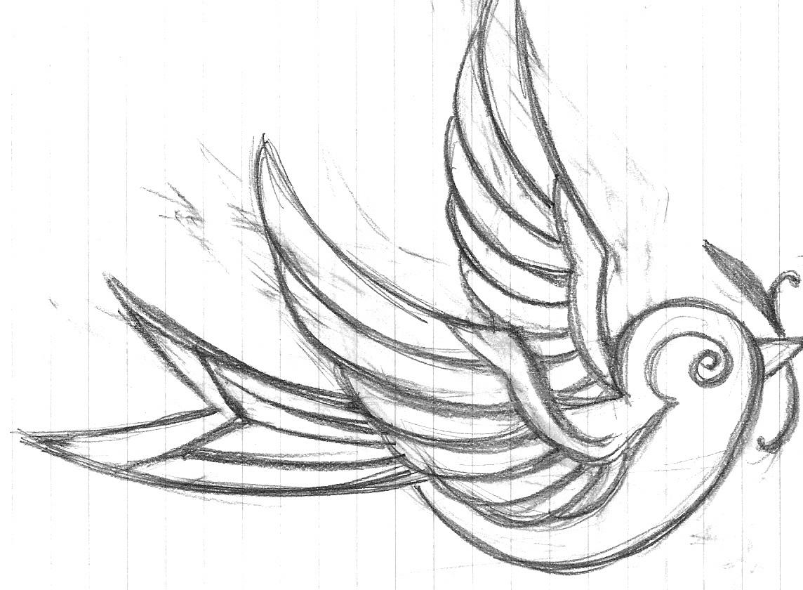 Outline Girl Black Simple Drawings