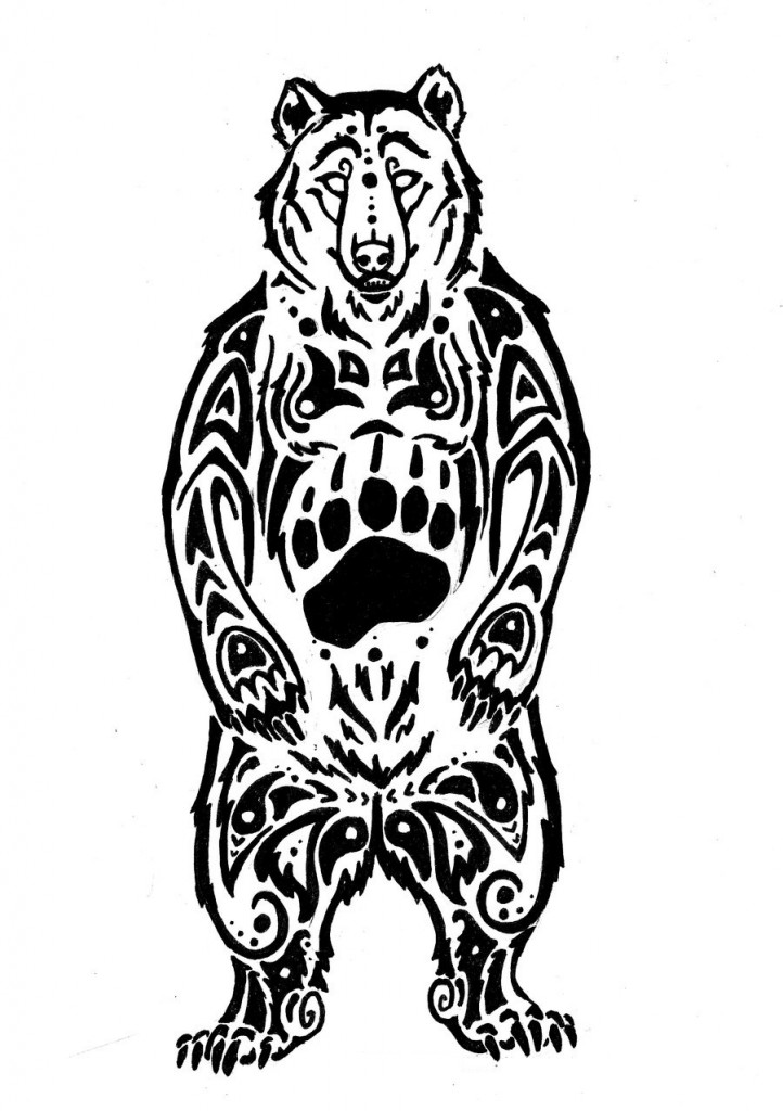 Black Bear White Drawings Black And