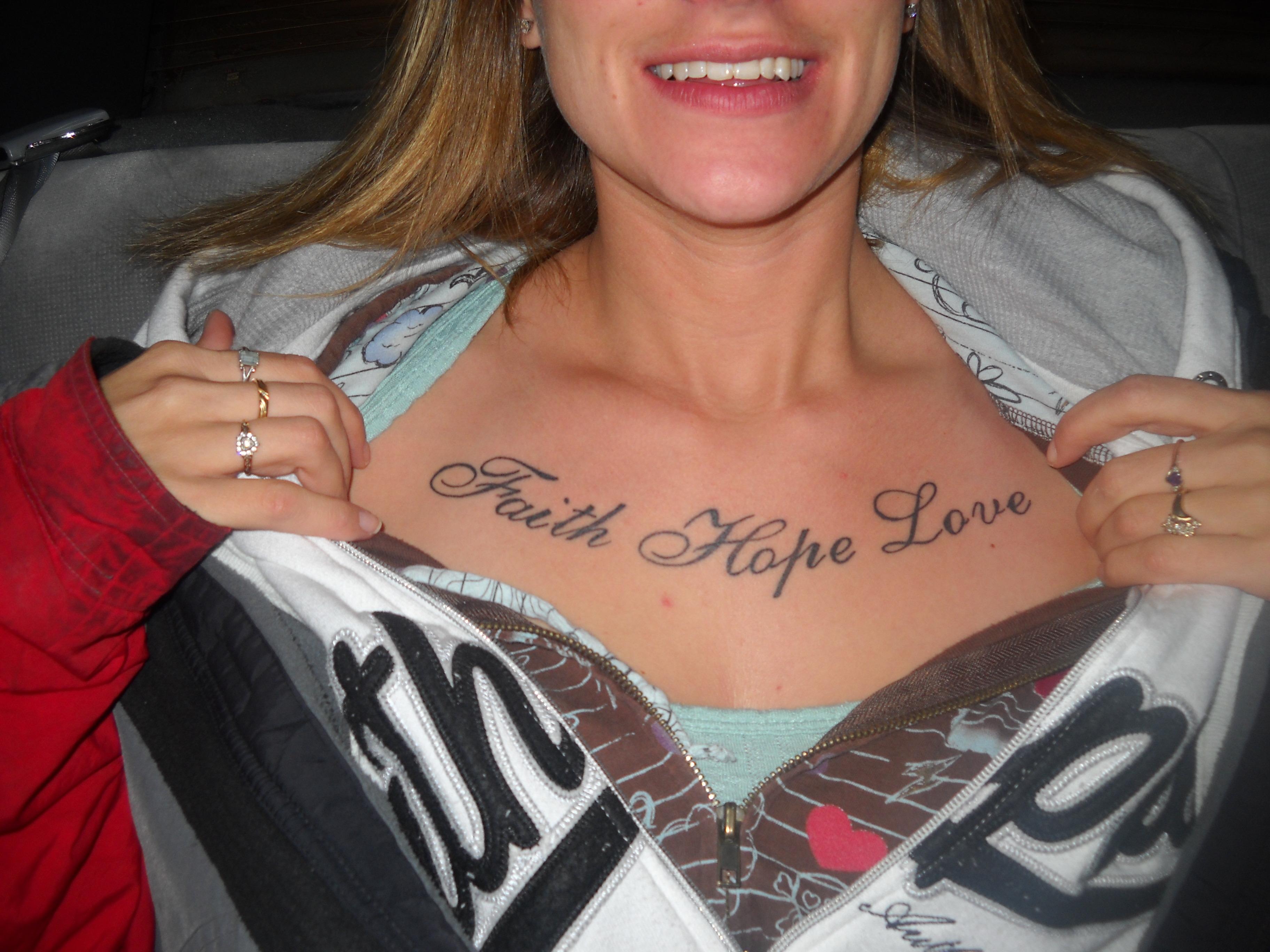 Hope Lifeline Faith Tattoos Love