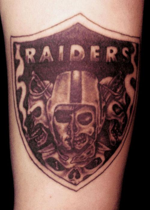 Oakland Raiders Face Tattoo