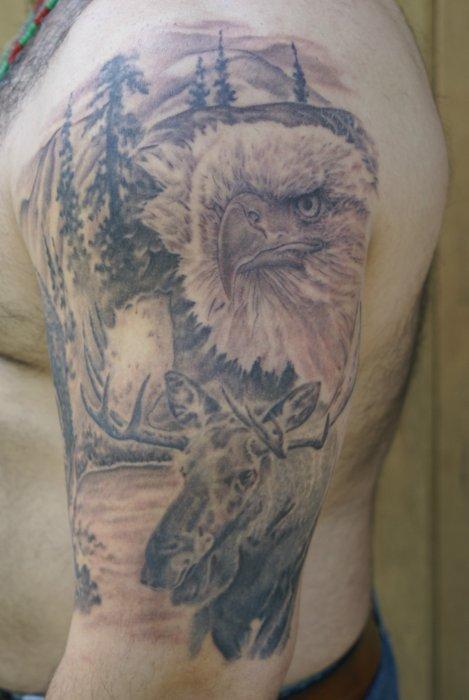 Tattoos Men Deer