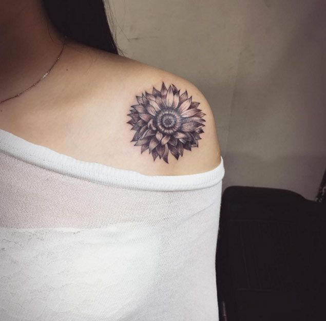 Sunflower Shoulder Tattoo Designs, Ideas and Meaning ...
