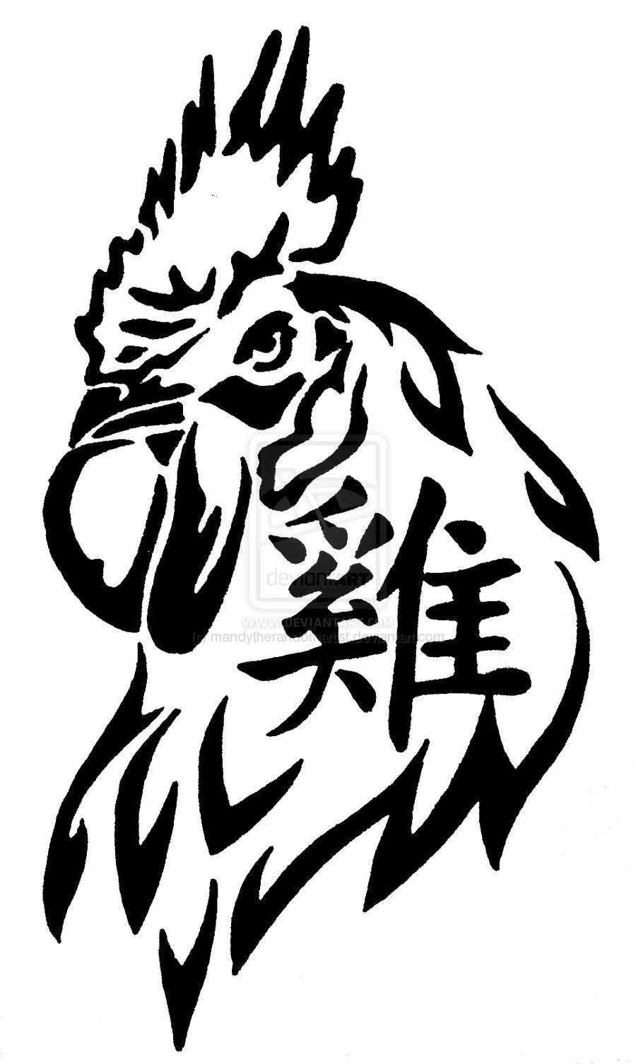 Tattoos Rooster Chinese