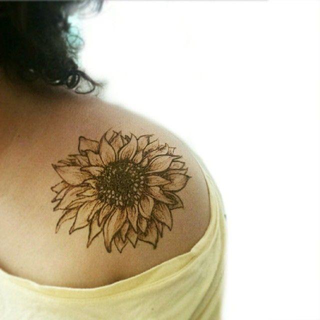Sunflower Tattoo Images & Designs