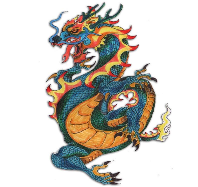 Balance Yin Yang Dragon Tiger Tattoo