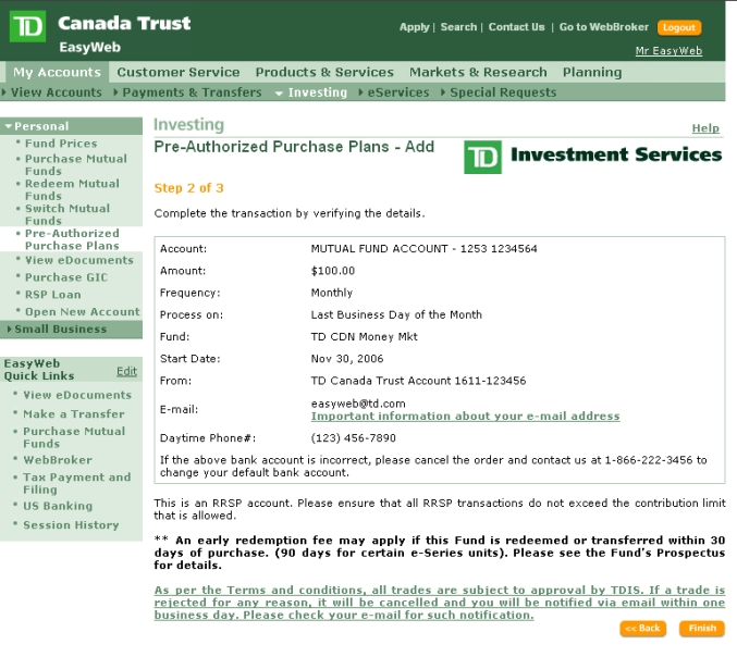 Td Easyweb Personal Banking