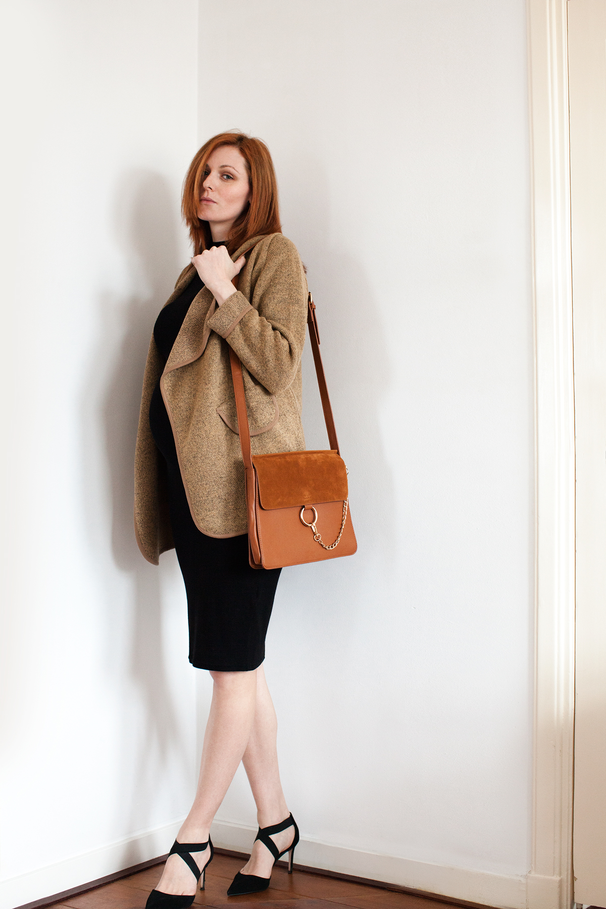 53419d382 How to Wear Non Maternity Clothes When Pregnant, featured by top US fashion  blog,