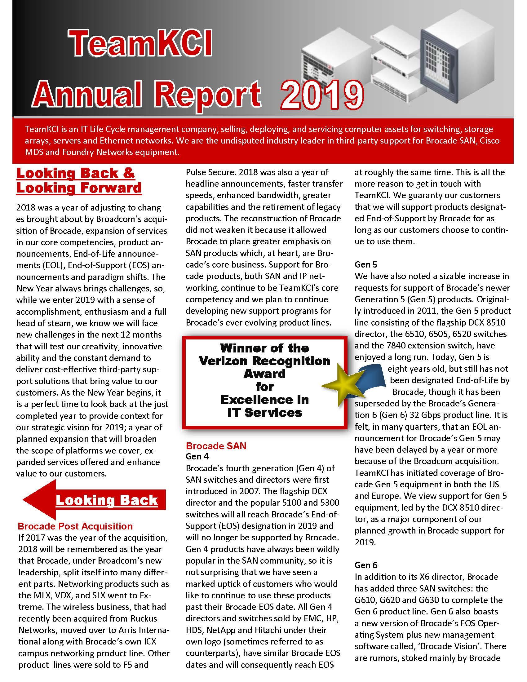 TeamKCI 2019 Annual Report – TeamKCI