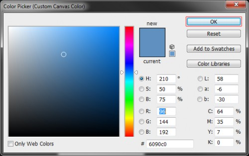 Change Photoshop CS6 Background and Theme Use the Color Picker to choose your new background color