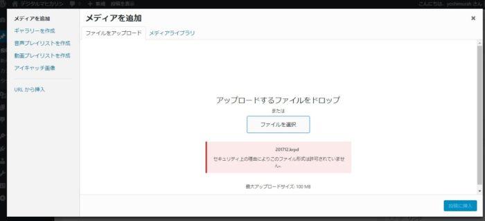 セキュリティ上の理由によりこのファイル形式は許可されていません pdf