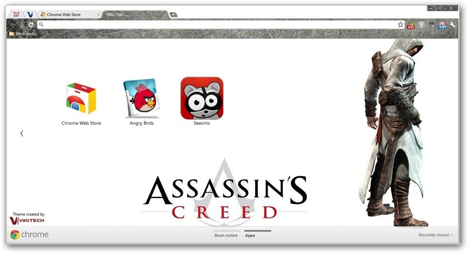 Assassin's Creed Google Chrome Themes